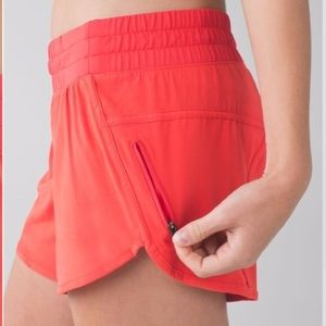 Lululemon Coral Tracker Shorts Perfect Condition